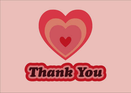 Thank you - colorful heart with thank you message.