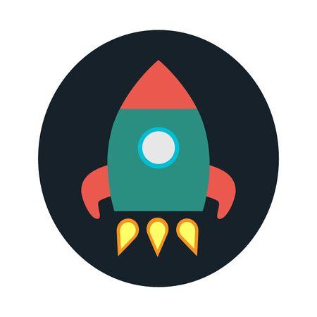 flat: Rocket flat icon