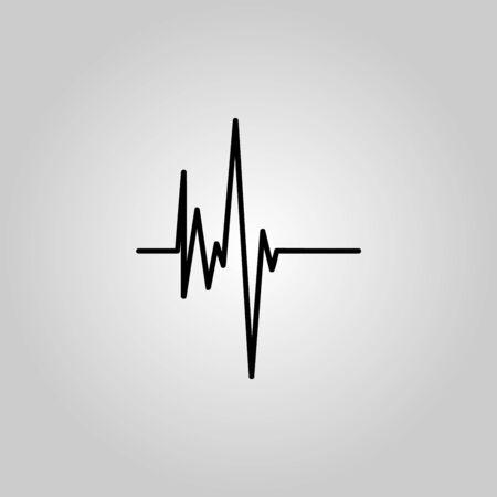 Electrocardiogram, ecg or ekg - medical icon Stock Photo