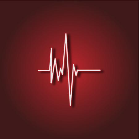 Electrocardiogram, ecg or ekg - medical icon Illustration