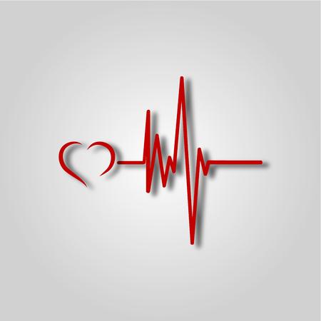 Electrocardiogram, ecg or ekg - medical icon 일러스트