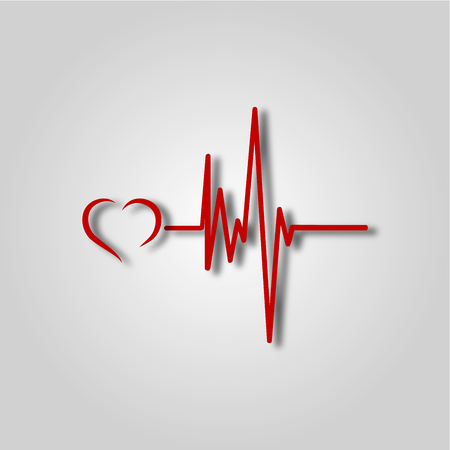 Electrocardiogram, ecg or ekg - medical icon Illustration
