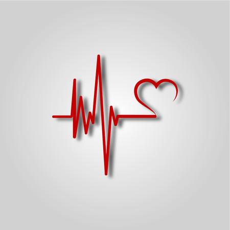 EKG, ekg lub ekg - ikona medyczna