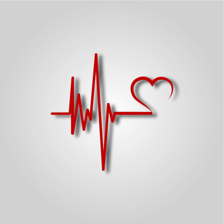 Electrocardiogram, ecg or ekg - medical icon Stock Illustratie