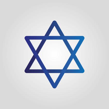 Blue star David icon. Vector illustration