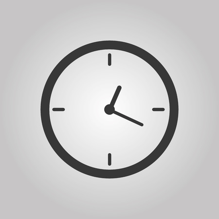 Office clock Vector illustration Eps 10 Векторная Иллюстрация