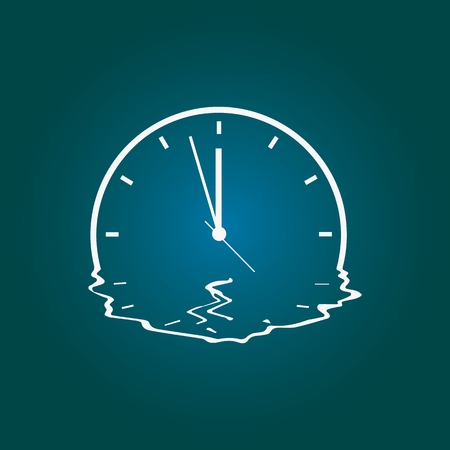 quirky drawing of a melting clock