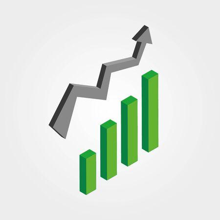 graphique d'entreprise vectoriel avec flèche montrant les bénéfices et les gains. fond d'affaires de vecteur Banque d'images