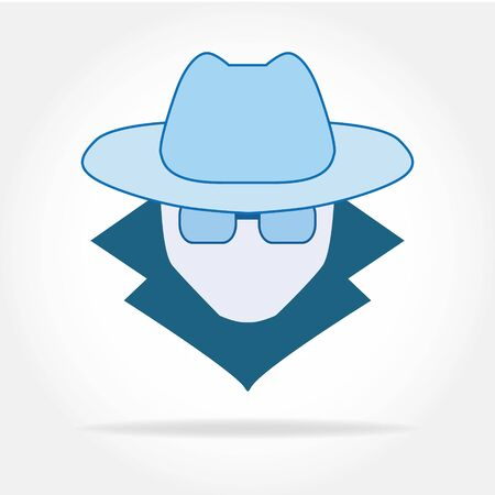 Spyware icon in simple design. Vector illustration