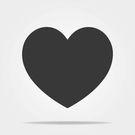 Heart vector icon, Love symbol. Valentines Day sign, emblem isolated on white background.