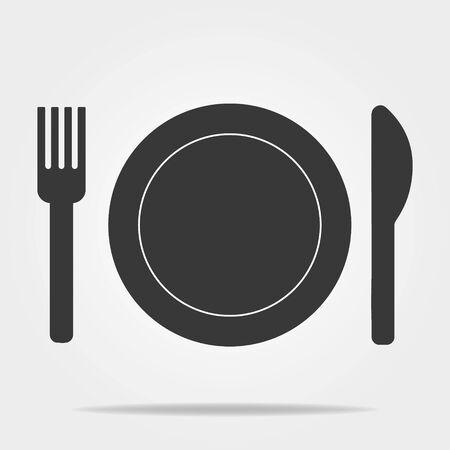 Restaurant icon page symbol for your web site design Restaurant icon logo app UI.