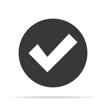 Check Mark Isolated Flat Web Mobile Icon Vector Sign Symbol Button Element Silhouette