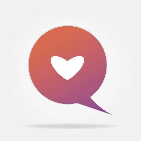Heart Symbol Speech Bubble vector Illustration
