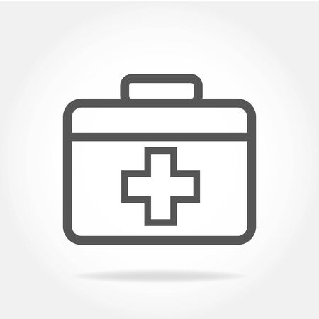 First aid Icon in trendy flat style isolated on grey background. Medical symbol for your web site design, logo, app, UI.