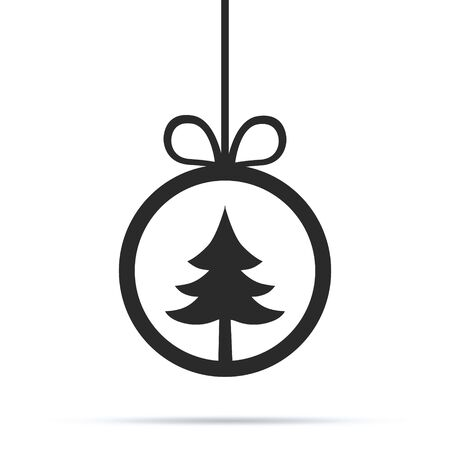 Vector illustration of a sketch greeting Christmas card and decoration