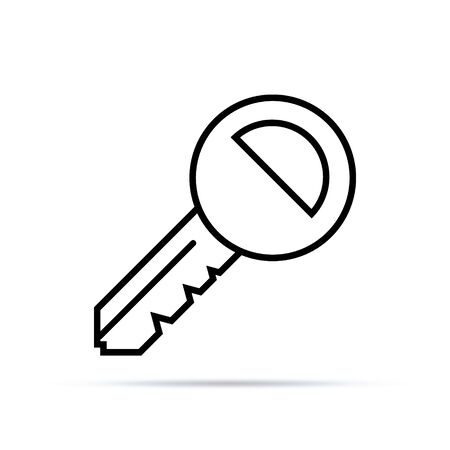 Key Icon in trendy flat style isolated on grey background. Key symbol for your web site design, logo, app, UI. Vector illustration, EPS10.
