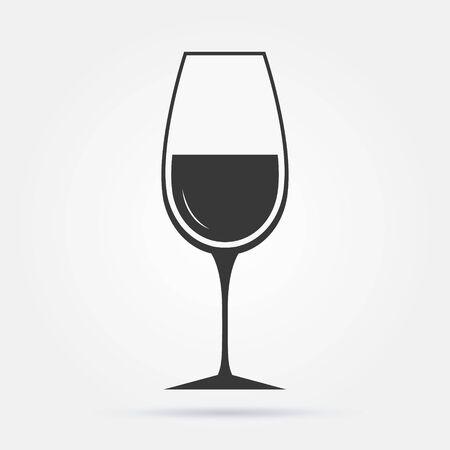 The wineglass icon. Goblet symbol. Flat Vector illustration Иллюстрация