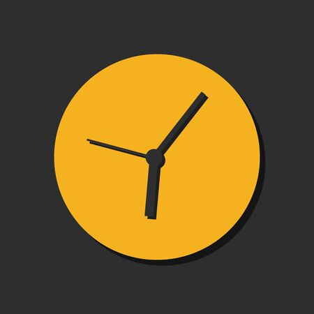 Orange clock icon Vector illustration on black background , EPS 10. 일러스트