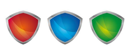 shield set. collection. vector protection icon symbol scalable