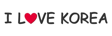 I love Korea letter for design and decoration.