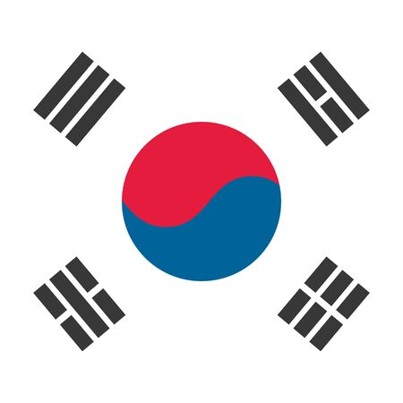The flag of South Korea is on a white background