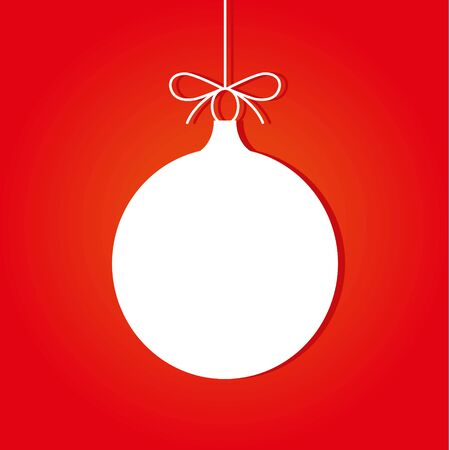 Christmas ball on a red background. vector illustration.