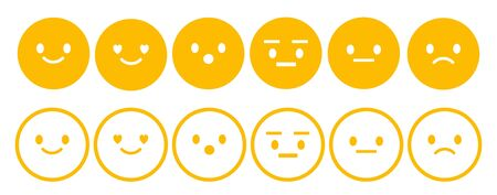 smiles Emotions set. vector illustration.