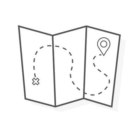 map icon isolated on white background.
