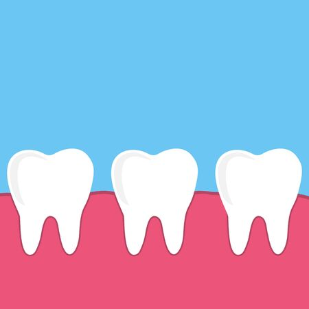 set dental vector, teeth with gum Stock Vector - 134858522