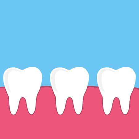 set dental vector, teeth with gum