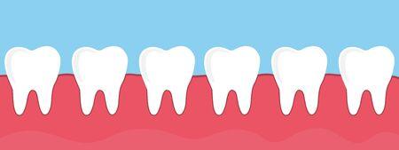 teeth in the gum, vector illustration Illustration