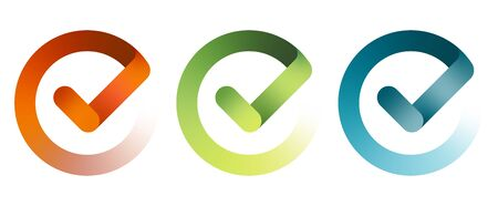 Set of check mark icon. Vector illustration Ilustrace