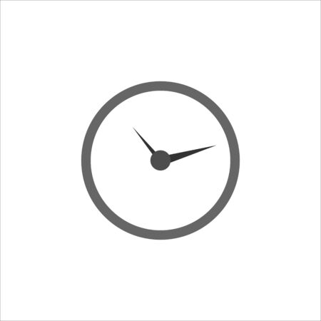 Clock icon in trendy flat style isolated on background. Clock icon page symbol for your web site design