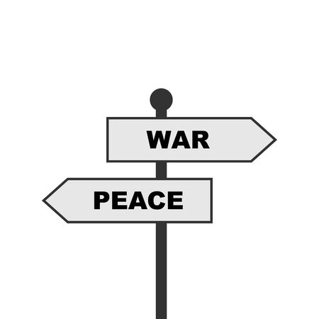 war or peace direction, vector illustration.