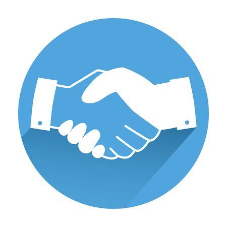 Business handshake icon. Flat illustration of business handshake vector icon for web design Illustration