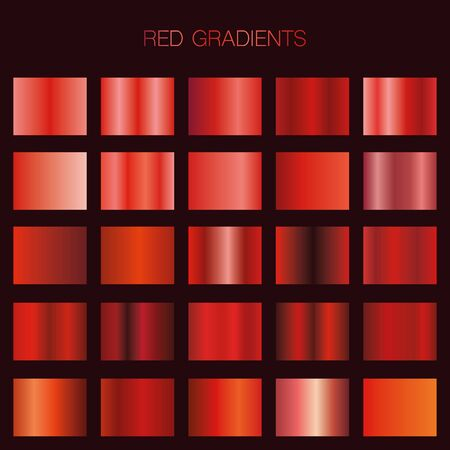 Red gradient collection for your design.Vector set of red gradients Stockfoto - 141258916