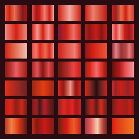 Red gradient collection for your design.Vector set of red gradients Stockfoto - 141259041