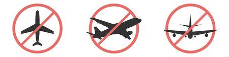 no flying on white background,prohibit sign vector. Ilustração