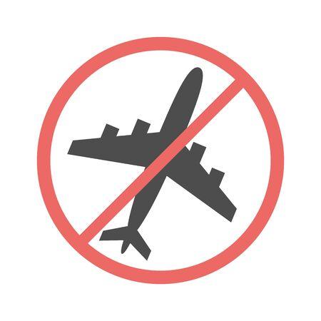 no flying on white background,prohibit sign vector. Illusztráció