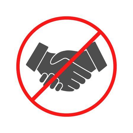 No Handshake icon. Vector illustration. No dealing. No collaboration.