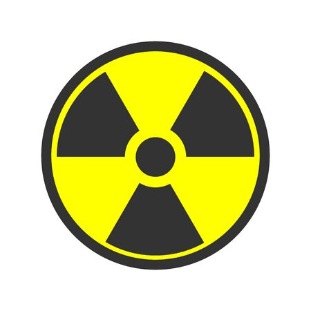 Biohazard icon. Warning sign of virus. Vector biohazard symbol isolated on white background. Emblem of biological threat alert. EPS 10.