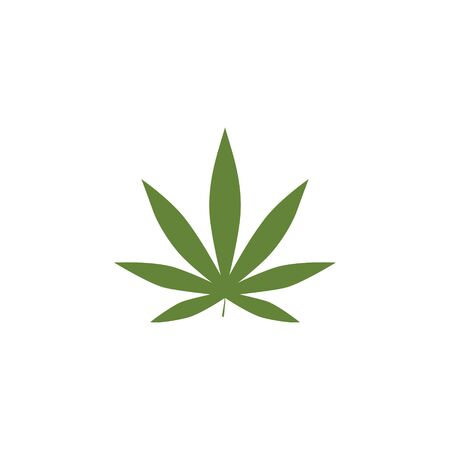Green Marijuana Leaf Template Illustration Design.