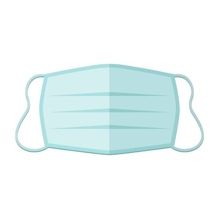 Medical mask vector icon isolated on white background