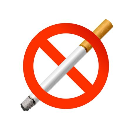 The sign no smoking. Illustration on white background