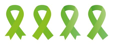 Green ribbon Scoliosis, traumatic brain injury, Mental health, cerebral palsy, aging research, Lyme disease, organ transplant and organ donation, kidney cancer awareness, pedestrian safety awareness