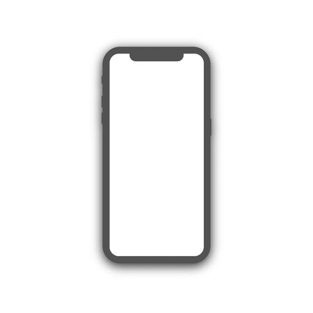 Smartphone icon in a flat style. Mobile phone isolated on a white background.