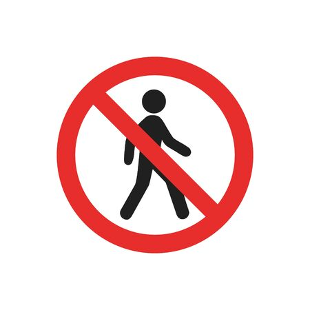 no entry sign, no entry, hapreschen people input, editable vector illustration on white background. Vettoriali