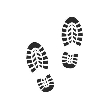 Footprint icon isolated on white background. Vector illustration.