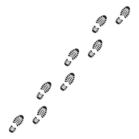 Footprint icon isolated on white background. Vector illustration. Ilustración de vector
