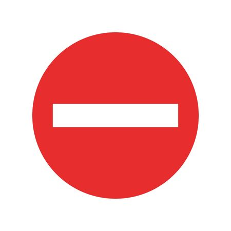 stop sign icon vector. No red warning sign isolated on white background
